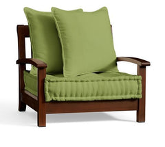 green pillow outdoor chair