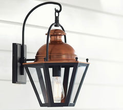copper outdoor sconce