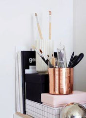 copper pencil cup copper metallic office decor