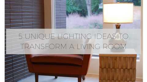 Unique living room lighting ideas