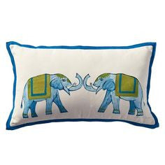 outdoor pillow with elephants