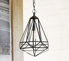 Faceted-indoor-outdoor-pendant