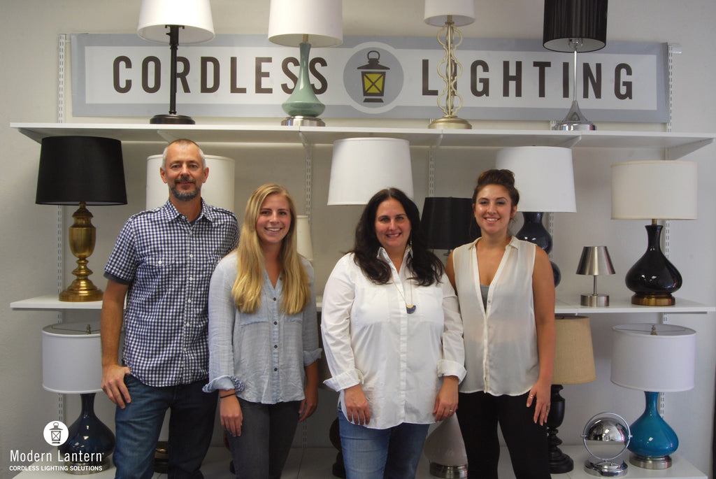 small business fort worth local cordless lamp shop