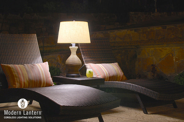 Havana outdoor cordless lamp by modern lantern