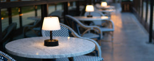 battery operated mini lamps perfect for restuarants dining tables