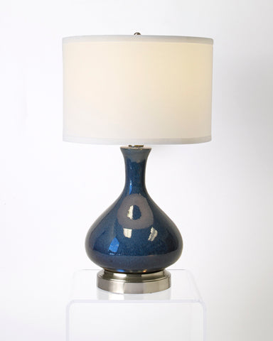 Lapis ceramic cordless lamp by modern lantern made in usa