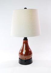 limited edition artist series rust glaze handmade ceramic cordless lamps