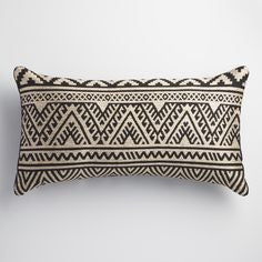 outdoor pillow with geometric pattern