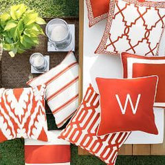outdoor pillows in orange