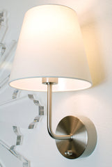 nickel cordless wall lamp by modern lantern