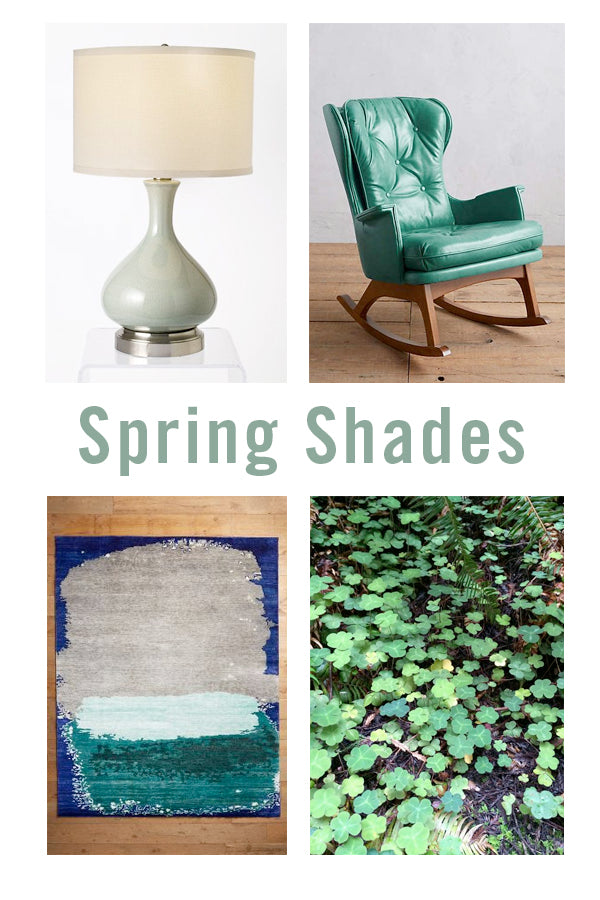 spring green shades home decor trend