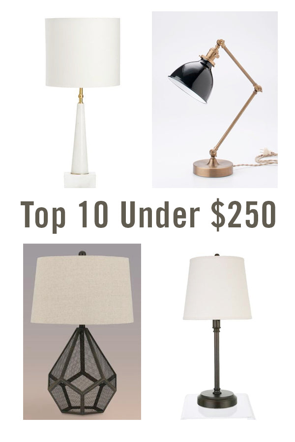 Top 10 lamp picks under $250