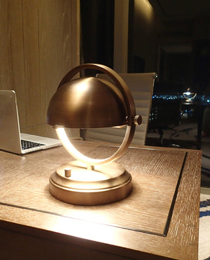 abbey dome brass cordless table lamp rechargeable