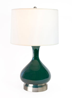 bartlett emerald green cordless table lamp brass