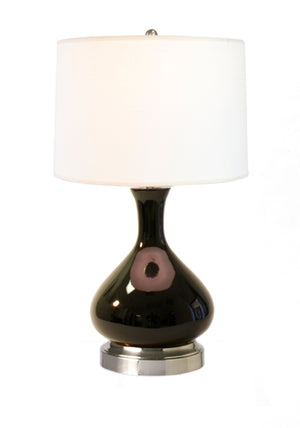 Bartlett Black on Nickel Cordless Lamp, Lamps Made in the USA, rechargeable lamp, battery operated lamp