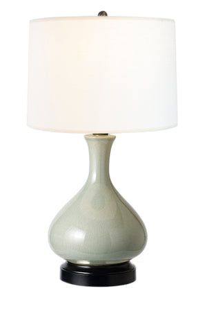 Bartlett Celadon Cordless Lamp, Made in the USA, rechargeable lamp, battery operated lamp