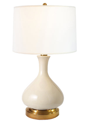 Bartlett Ivory Brass Cordless Lamp, Lamps Made in the USA, rechargeable lamp, battery operated lamp