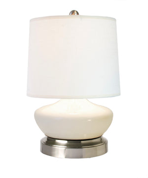 Bella Ivory Nickel Mini Cordless Lamp - Made in the USA, cordless battery operated lamp