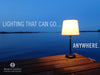 Capri Outdoor Cordless Lamp, Cordless outdoor lamp, lamp that goes anywhere