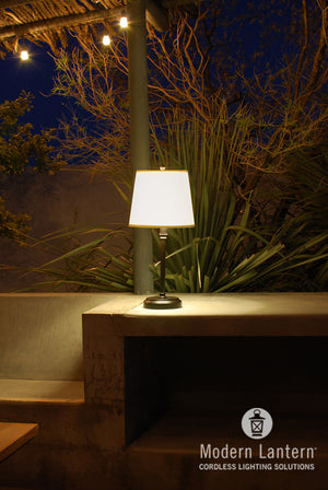 Capri Outdoor Cordless rechargeable lamp by modern lantern