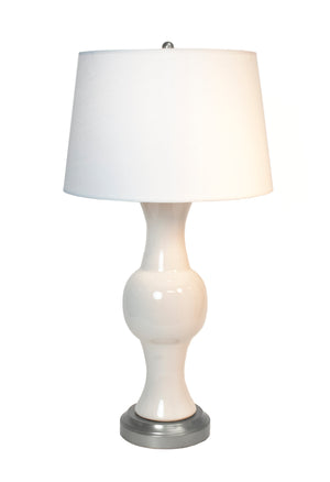 Jamison Ivory nickel Cordless Lamp by Modern Lantern