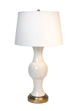 Jamison Ivory Brass Cordless Lamp by Modern Lantern