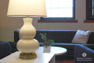 marilyn ivory cordless table lamp on brass