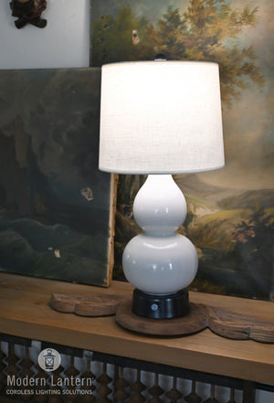 norma jean mini ceramic cordless lamp gray