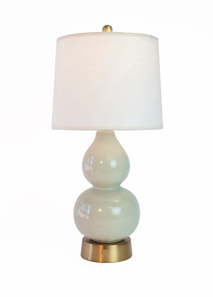 norma jean cordless mini lamp celadon brass by modern lantern