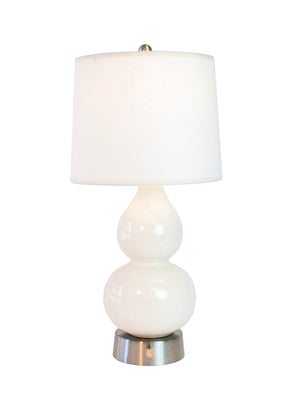 norma jean ivory ceramic nickel cordless mini lamp