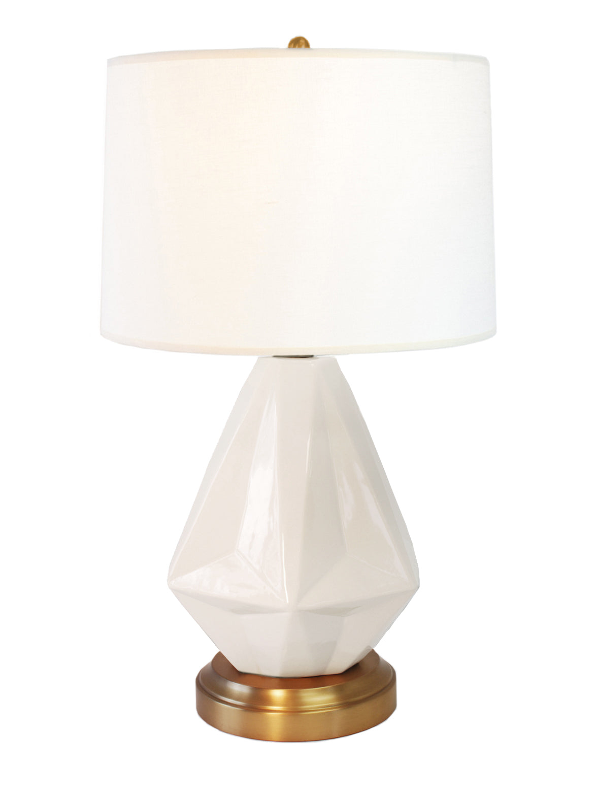 Products modern lantern prisma white on brass cordless table lamp battery operated by modern lantern mozeypictures Choice Image