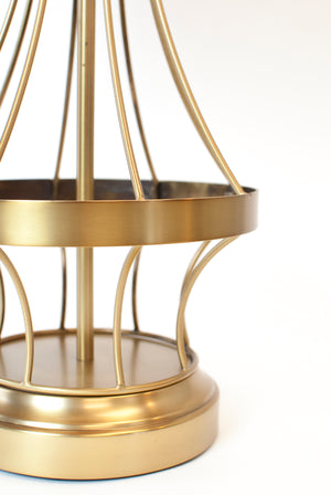 wireframe cordless rechargeable lamp brass