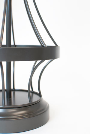 gunmetal wireframe cordless battery operated lamp