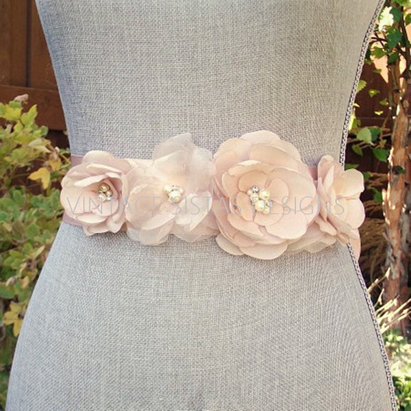 Blush Wedding Sash