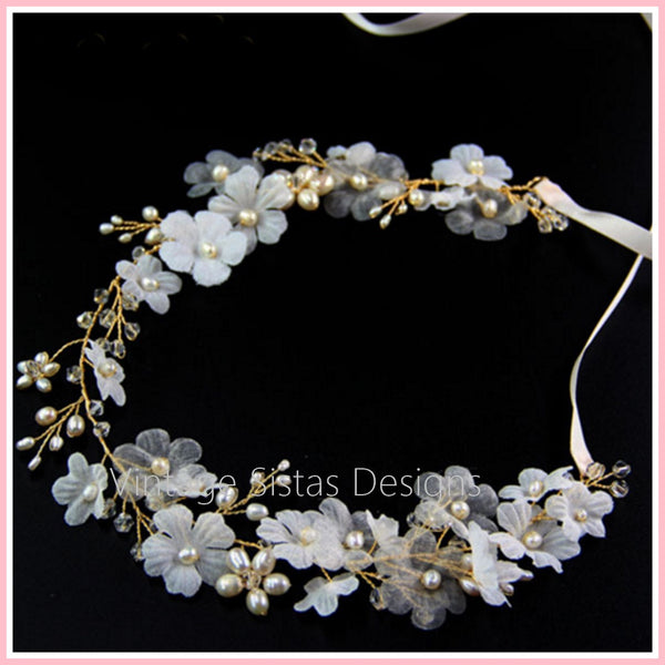 Freshwater Pearl Wedding Headpiece