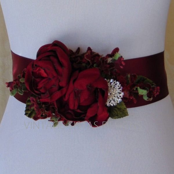 Holiday Bridal Sash