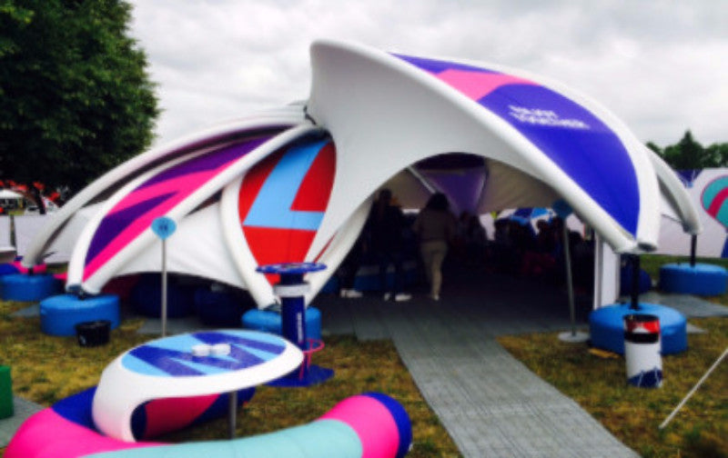 Axion Flower Inflatable Tent - Stretch Event Tents USA ... & Axion Flower Inflatable Tent | Stretch Event Tents USA