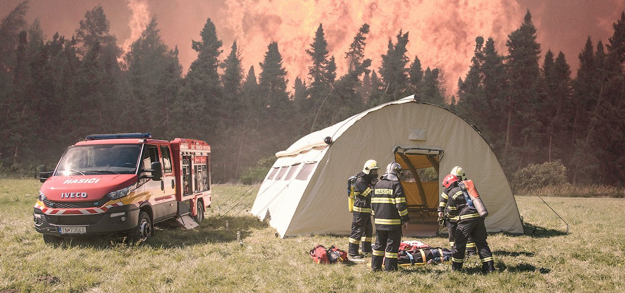 Fire rescue tents