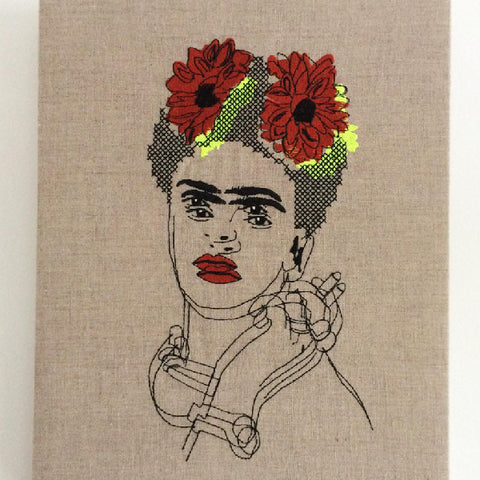 Frida Kahlo Embroidery by Dionosky