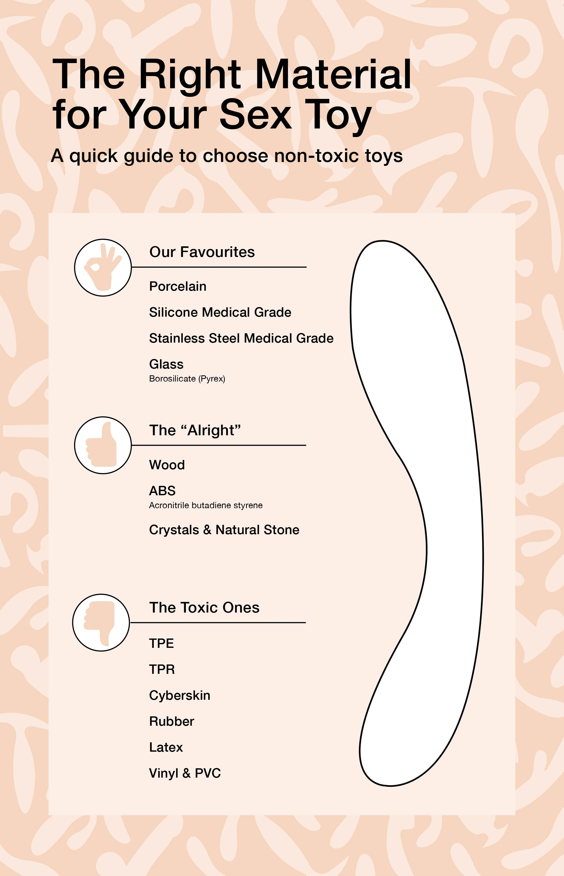 Visual guide to help you choose the right material for your sex toy !