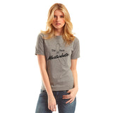 T-shirt unisexe gris Stay Home and Masturbate par Désirables Grey t-shirt