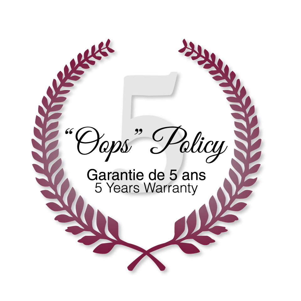 5 year warranty on our porcelain products