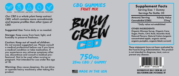 750mg Combo Pack - Bully Crew CBD Oil & Gummies