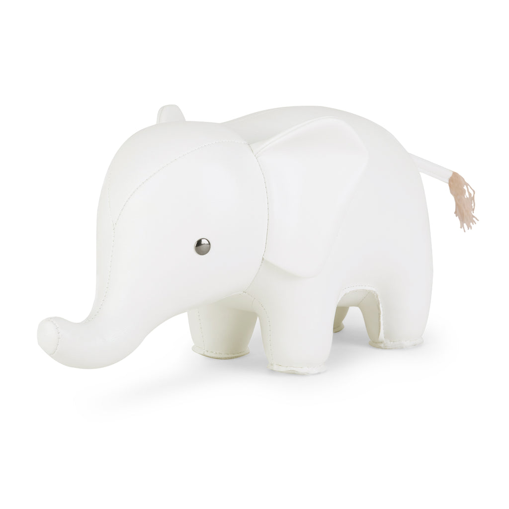 SIGNATURE WHITE ELEPHANT DOORSTOP