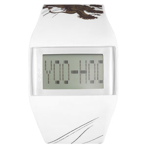 """HOT"" odm Men Women Digital White Silicone Wristwatch DD99B-98"