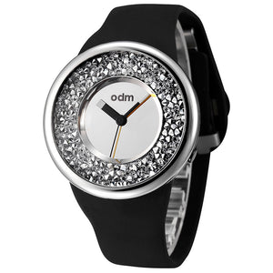 """HOT"" odm DD156-03 Hologram sliver crystal fashion watch"
