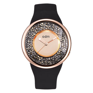 """HOT"" odm DD156-05 Hologram rosegold crystal fashion watch"