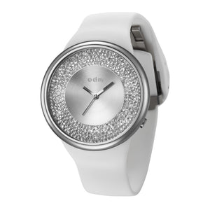 """New"" o.d.m. DD184-01 Women Swarovski Crystal Dial Wristwatch"
