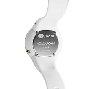 """HOT"" odm DD156-01 Hologram white Swarovski crystal fashion watch"