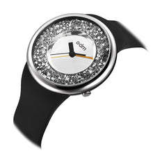 "Load image into Gallery viewer, ""HOT"" odm DD156-03 Hologram sliver crystal fashion watch"